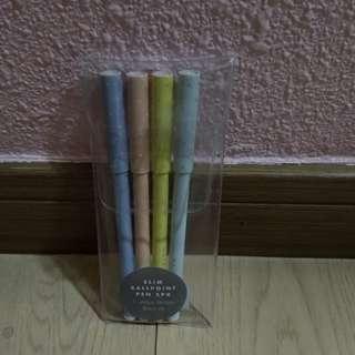 Kikki k 黑色原子筆4枝 black pens