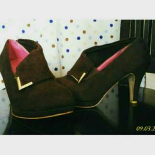 Ankle booth coklat