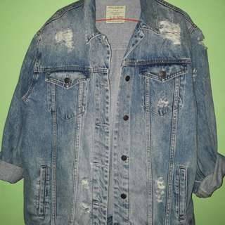 Jaket jeans pull and bear