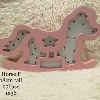 Pink horse wall decor