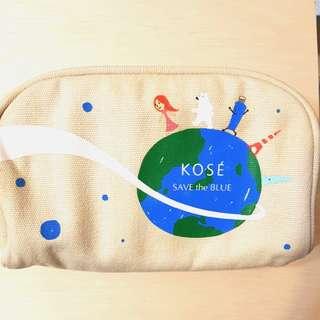 高絲Kose愛地球帆布筆袋/化妝包