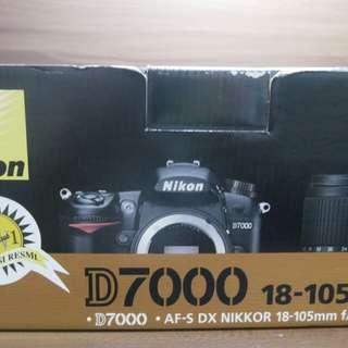 Nikon D7000 18-105 VR Kit banyak bonus