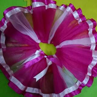Tutu Skirt Double Layer And Ribbon