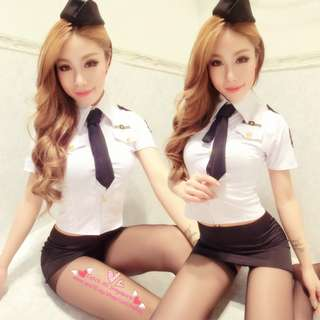 ★Cosplay★Stewardess Uniform★Role Playing Costumes★Sexy Dress★Sexy Intimate★Sexy Lingerie★Uniforms Temptation★空姐★制服诱惑