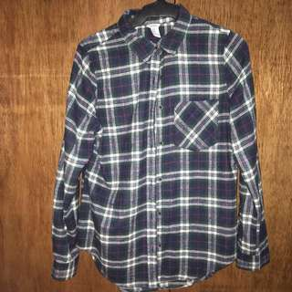 Plaid Longsleeves Top