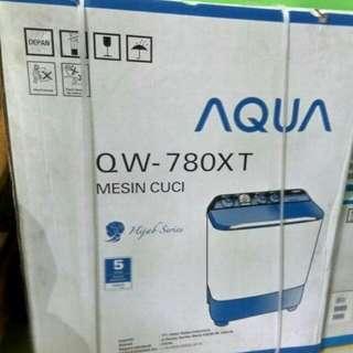 mesin cuci 2 tabung merk aqua