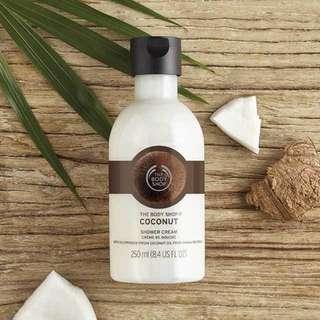 the body shop shower cream coconut