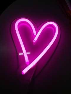 Led pink heart light