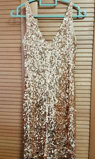 Dress with Sequins (Brilliant Gold/Hot Red/White Jewel)