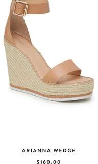 Renting Kookai wedges tan