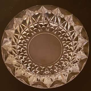Vintage Heavy Glass ashtray coaster