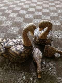 Home Deco Wooden Swan