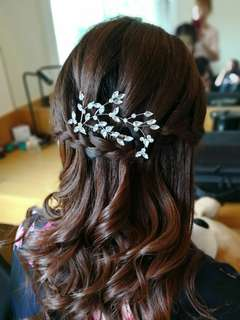 Bridal makeup hair do