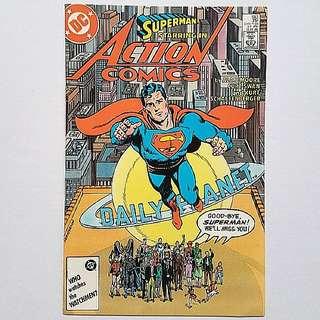 DC Comics Action Comics 583 Very Fine / Near Mint Condition Alan Moore Story