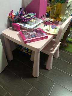 IKEA Table and chair