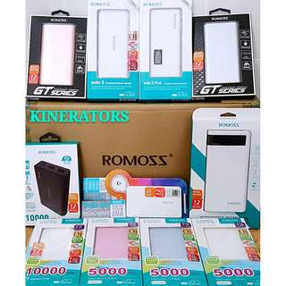 ROMOSS Powerbank (5000/10000mAh) - 1 Yr Warranty