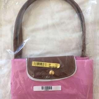 全新 Longchamp 折疊袋大size 粉紅色