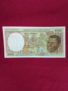 Central Africa States 1000 Francs 1999-2000 issue