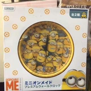 日本直送 Minions時鐘 迷你兵團