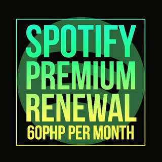 Spotify Premium Renewal For Sale