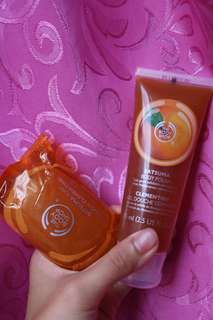 Body Shop soap and gel