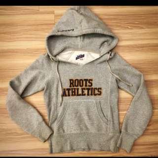 Roots 灰色內裡刷毛帽T size:xs 便宜賣
