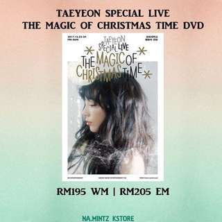 PRE-ORDER TAEYEON SPECIAL LIVE - THE MAGIC OF CHRISTMAS TIME DVD