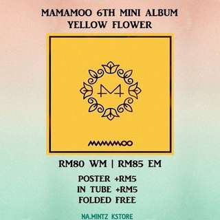 PRE-ORDER MAMAMOO 6TH MINI ALBUM - YELLOW FLOWER