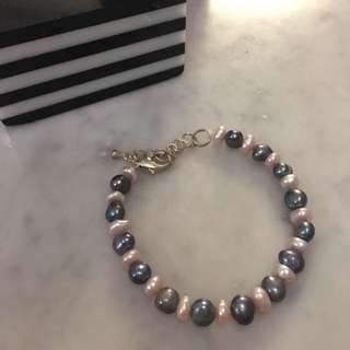 Black and white perfect pearl from South China Sea