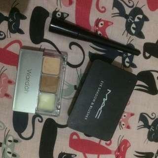 Take all wardah (double function kit) + maybelline eyeliner hyper glossy + m.a.c eyeshadow&blusher
