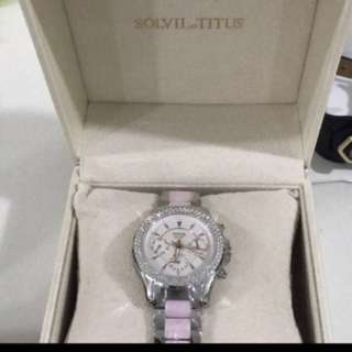 Solvil Titus Watch in pink