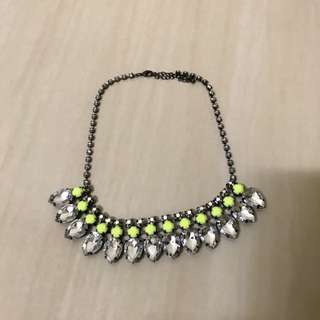 H&M jewelled necklace