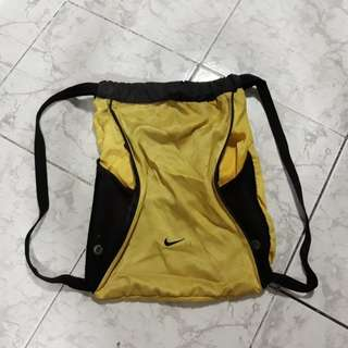 Yellow nike bag