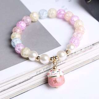 Little Fortune Cat Bracelet - GFR211  Color: as attach photo