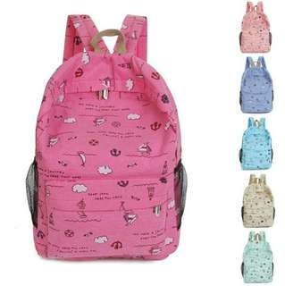Women Girl Boy baby toddler children kid Canvas Shoulders School Bag Backpack Travel Satchel Rucksack
