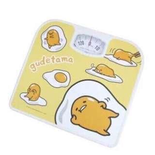 🚚 三麗鷗GUDETAMA蛋黃哥指針式體重機 體重計