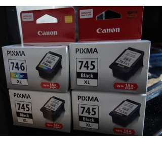 全新原裝Canon 745XL original black ink PG-745XL 745 XL 黑色墨
