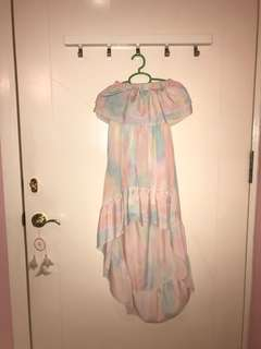 Pastel hi-low dress