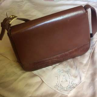 Bonia Brown Leather Handbag