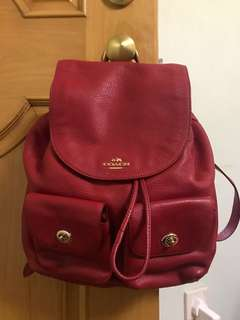 Authentic coach red backpack