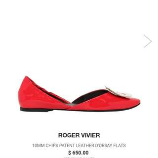 Roger Vivier Chips Patent Leather D'orsay Flats