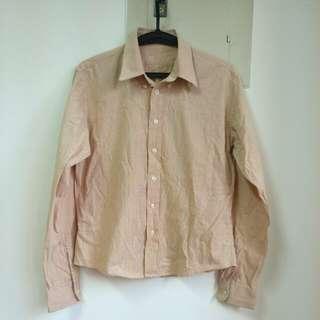 格紋長袖襯衫