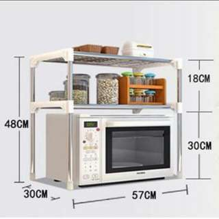 2 layers stainless steel storage rack