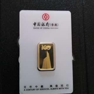 中銀香港百週年紀念金牌