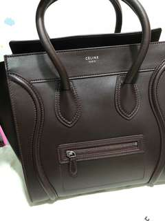 Celine Luggage Bag(micro)Burgundy