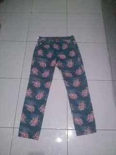 Floral pants Triset TURUN HARGA