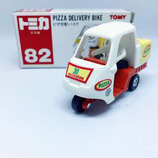 Takara Tomy Tomica 82 Pizza Delivery Bike (Made in Japan)