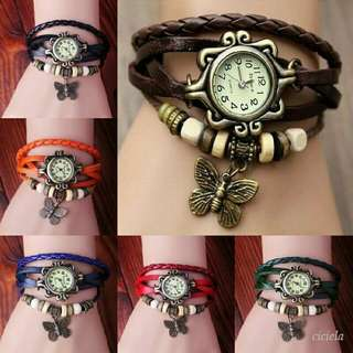 BUTTERFLY RETRO WATCH AND BRACELET