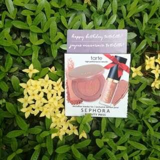 🆕 tarte 'happy birthday tartelette!' blush and lip paint