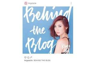 Kryz Uy Behind the Blog Book